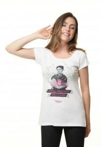 Camiseta Feminina Frida Kahlo - Onde não puderes amar não te demores