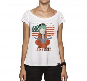 Camiseta Feminina - Guns N Roses