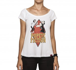 Camiseta Feminina - Popeye Fiction