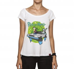 Camiseta Feminina - Rick and Morty