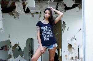 Camiseta Feminina - Stranger Things (names)