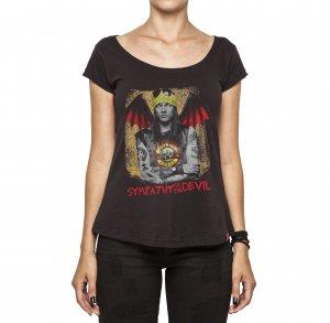 Camiseta Feminina - Sympathy For The Devil - Guns And Roses