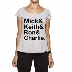 Camiseta Feminina - The Rolling Stones