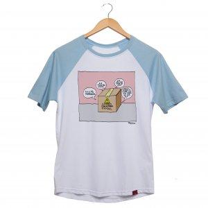 Camiseta Manga Raglan Unissex - A Fantástica Aventura de Ser Mulher - Sexo Frágil