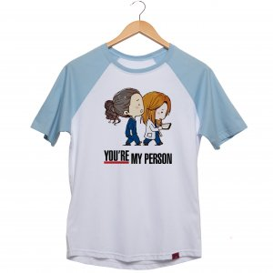 Camiseta Manga Raglan Unissex - Grey's Anatomy - You're my person