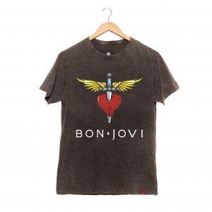 Camiseta Masculina Estonada - Bon Jovi s2