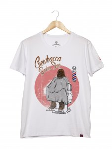 Camiseta Masculina - Chewbacca Barber Shop