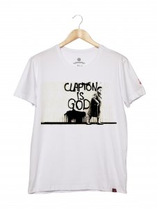 Camiseta Masculina - Clapton Is God