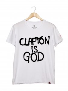 Camiseta Masculina - Clapton Is God 2
