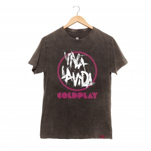 Camiseta Masculina Estonada - Cold Play