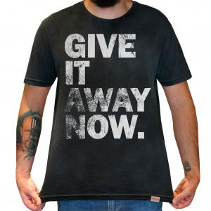 Camiseta Masculina Estonada - Red Hot Chili Peppers - Give It Away Now