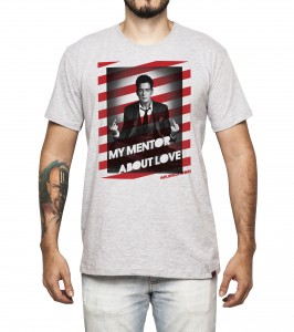 Camiseta Masculina - My Mentor About Love - Charlie Sheen