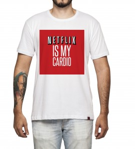 Camiseta Masculina - Netflix is My Cardio