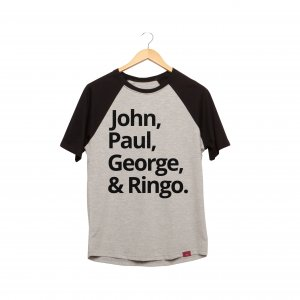 Camiseta Raglan - The Beatles Team