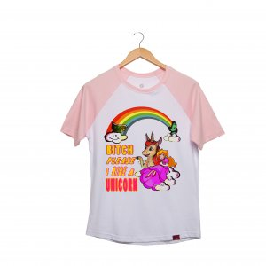 Camiseta Raglan - Unicorn