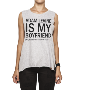 Regata Feminina Corte a Fio - Adam Levine Is My Boyfriend