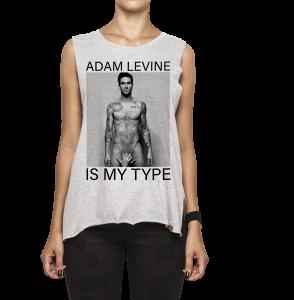 Regata Feminina Corte a Fio - Adam Levine Is My Type