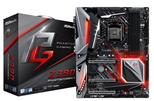 Placa Mãe Asrock Z390 Phantom Gaming 6 Intel 1151 Ddr4 Hdmi / DP / D-SUB / USB 3.1 / TIPE-C /ULTRA M.2  8ª  E 9ª Geração