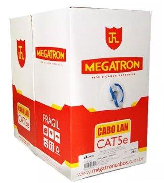 CABO DE REDE CX 305M 4P CAT5E AZUL MEGATRON HOM.ANATEL