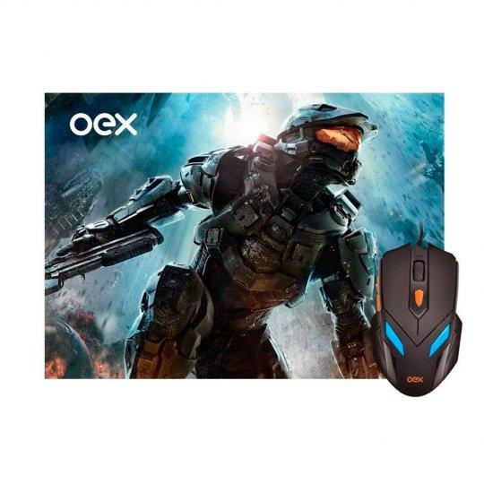 COMBO MOUSE USB LED OEX MC100 E PAD MOUSE WAR 29x23cm