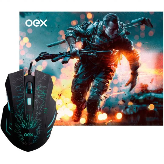 COMBO MOUSE USB MC101 LED OEX E PAD MOUSE GAME