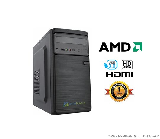 Computador Home Office AMD FX6300 - 4GB RAM, HD 320GB