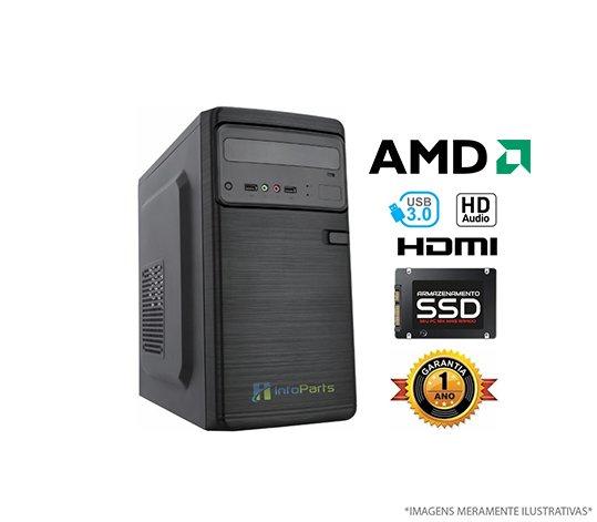 Computador Home Office AMD FX6300 - 4GB RAM, SSD 120GB