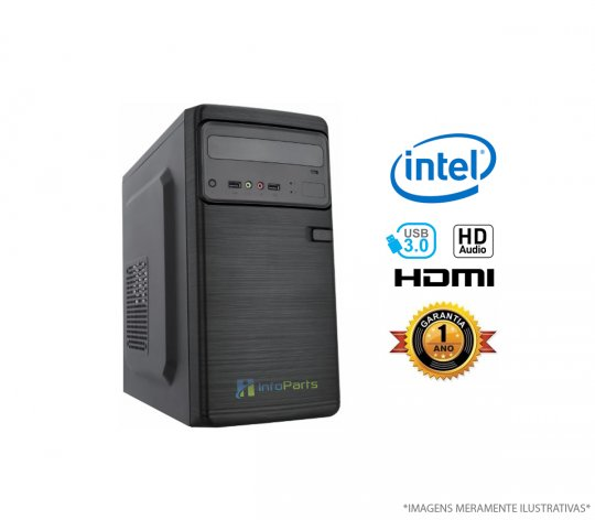 Computador Home Office Intel Core i3-8100 - 4GB RAM, HD 500GB