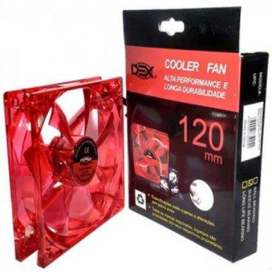 Cooler Dex Led Vermelho Dx-12l 120mm
