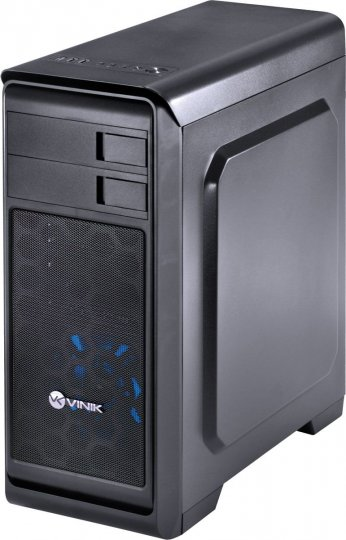Gabinete Vinik Midtower Vx Gaming Hunter Preto Fan Frontal 120mm Led Azul Janela Acrílica