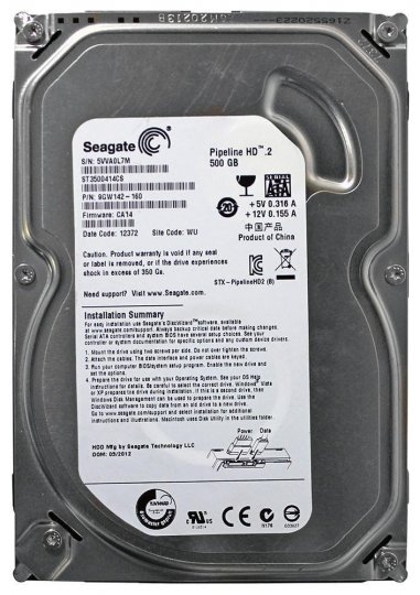 Hd Desk Sata2 500gb Seagate Pipeline Hd.2 Slim St3500414cs Pull Oem i