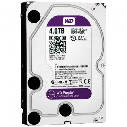HD Interno WD Purple 4TB SATA III 6GB/s 5400 RPM WD40PURZ