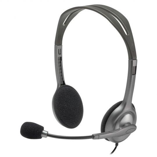 Headset Logitech Estéreo Analógico H111 Cinza