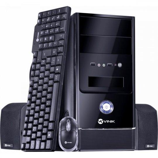 KIT Barebone Gabinete+Teclado+Mouse+Caixa de Som+Fonte 200W VB200 Preto