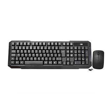 Kit Teclado e Mouse K-Mex KA-S228 + MA-B333 S/Fio USB Preto