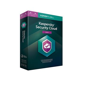 Licença Kaspersky Security Cloud Family 20 Dispositivos