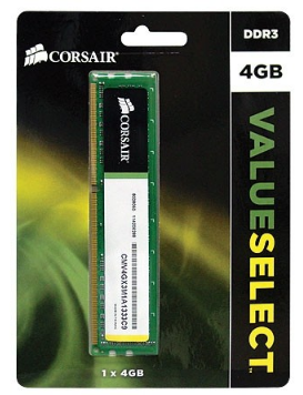 MEMORIA 4GB CORSAIR DDR3 1333MHZ VALUE CMV4GX3M1A1333C9