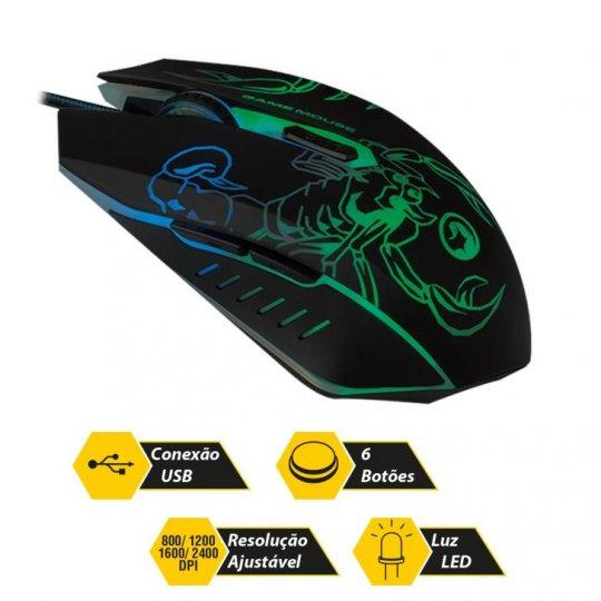 Mouse Gamer Light Bright 0447