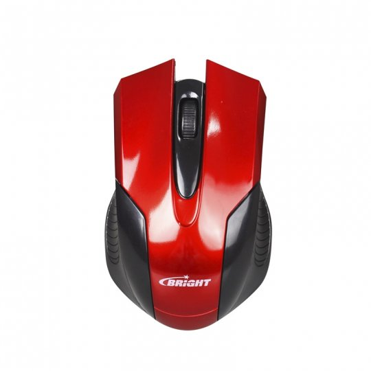 Mouse Usb Vermelho/preto 0221 Bright