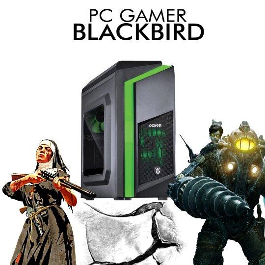PC Gamer InfoParts BLACKBIRD - Intel I7 8700, RX 550 4GB, 1TB, 8GB RAM