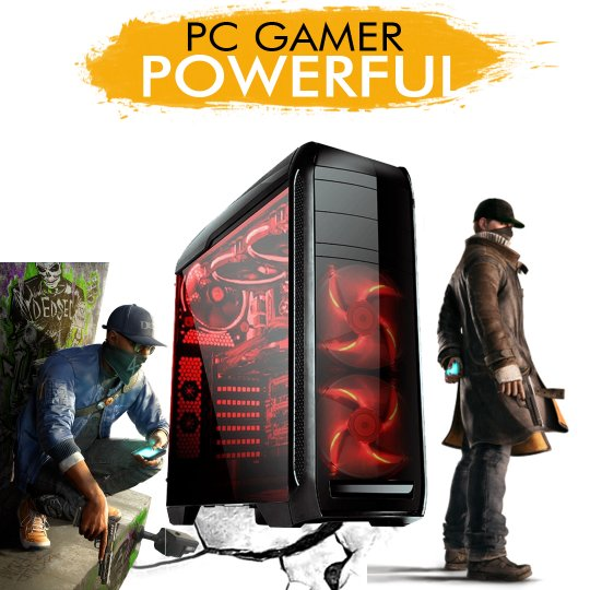 PC Gamer InfoParts POWERFUL - Intel I7 7700, GTX 1060 6GB, 1TB, 8GB RAM
