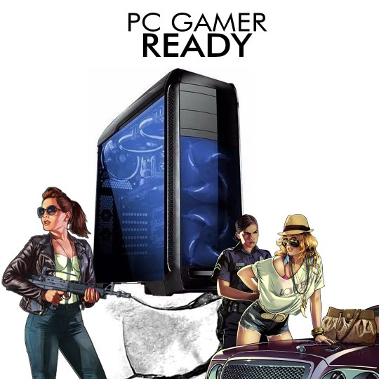 PC InfoParts GAMER READY - RYZEN 7 1700 3.0ghz, 1 TB, GTX 1060, 8GB DDR4