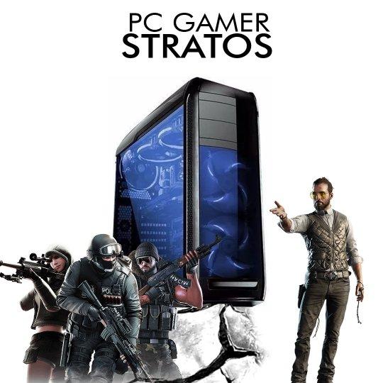 PC InfoParts STRATOS - RYZEN 7 2700 3.2ghz, 1TB, GTX 1050TI 4GB, 8GB DDR4