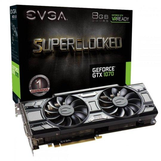 Placa de Vídeo EVGA GeForce GTX 1070 SC GAMING 8GB GDDR5 08G-P4-5173-KR