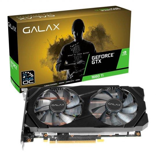 Placa de Vídeo Galax GTX 1660 TI 6GB 1Click OC G6 192Bits 60IRL7DSY91C