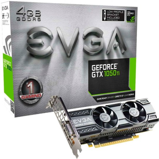 PLACA DE VIDEO GTX1050TI 4GB REF ACX LP DDR5 EVGA PCI-E 04G-P4-5251-KR