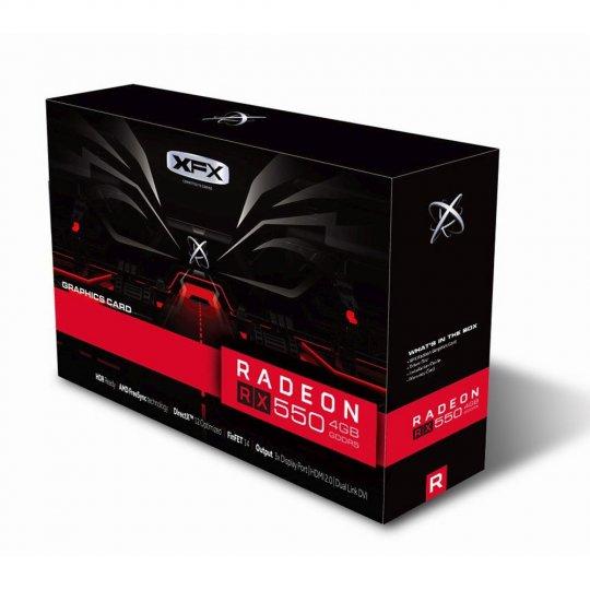 PLACA DE VÍDEO RX 550 4GB RADEON DDR5 1203MHZ CORE DP XFX RX-550P4SFG5