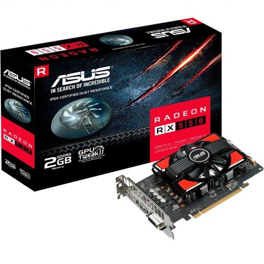 Placa de Video VGA AMD ASUS RADEON RX 550 2GB GDDR5 128 Bits RX550-2G