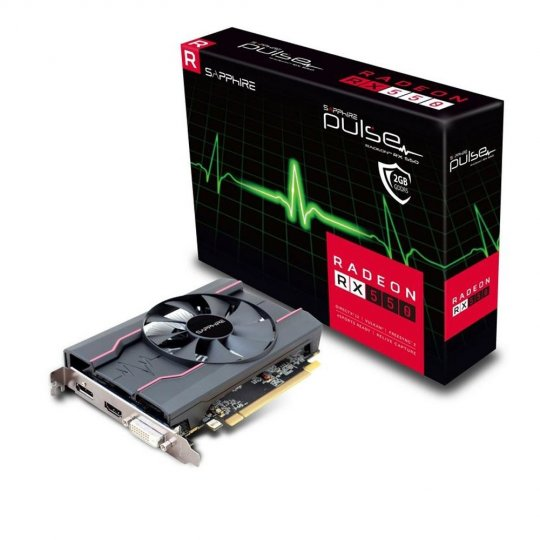 Placa de Video VGA AMD Sapphire RADEON RX 550 2GB DDR5 - 11268-03-20G
