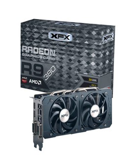 Placa de Video VGA AMD XFX RADEON R9 380 2GB DDR5 Double Dissipation 256B 990MHZ XFX R9-380P-2DF5